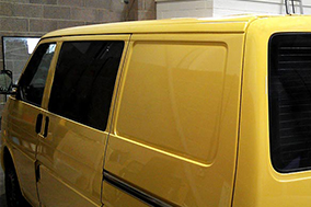 Fixed privacy tint side window and rear screen window tinting.