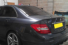 Mercedes C63 AMG rear window tinting with Suntek 18%.
